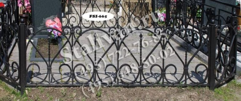 Ограды на могилы 15