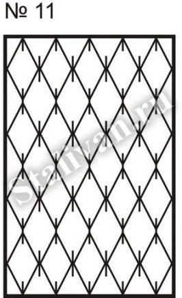 Сварная решетка на окно SRO-011 - фото 1