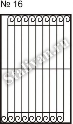 Сварная решетка на окно SRO-016 - фото 1
