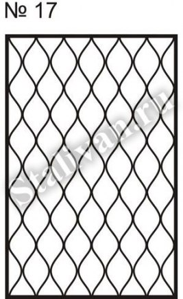 Оконная сварная решетка SRO-017 - фото 1