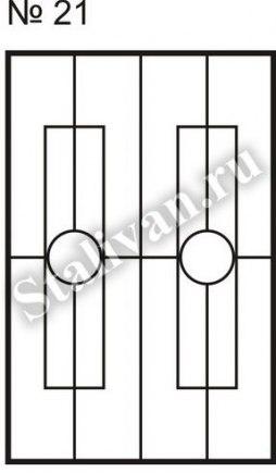 Сварная решетка на окно SRO-021 - фото 1