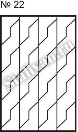 Оконная сварная решетка SRO-022 - фото 1