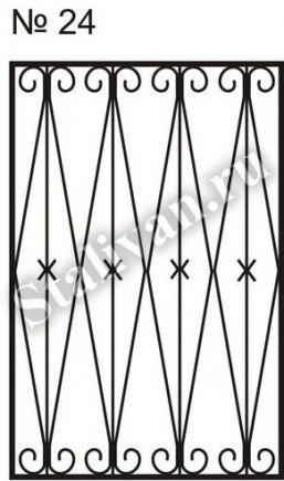Сварная оконная решетка SRO-024 - фото 1