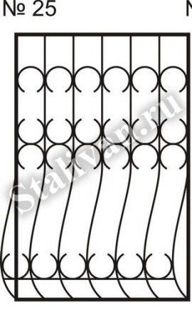 Решетка дутая сварная на окно SRO-025 - фото 1