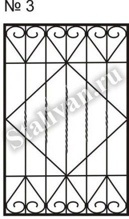 Решетка на окно сварная SRO-003 - фото 1