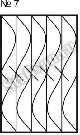 Оконная сварная решетка SRO-007 - фото 1