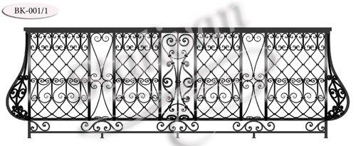 Кованое балконное ограждение BK-001-1 - фото 1