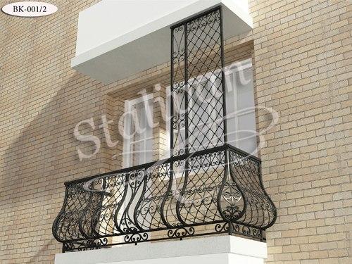 Кованое ограждение балкона BK-001-2 - фото 1