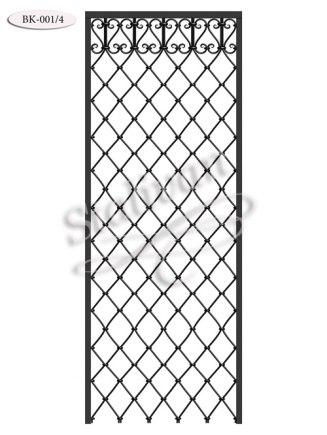Балконное ограждение с ковкой BK-001-4 - фото 1