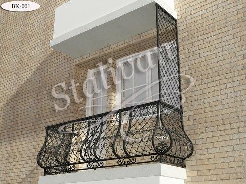 Кованое ограждение для балкона BK-001 - фото 1