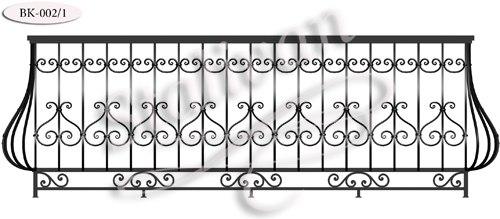 Кованое ограждение для балкона BK-002-1 - фото 1