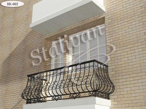 Балконное ограждение с элементами ковки BK-002 - фото 1