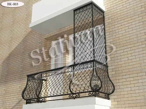 Кованое балконное ограждение BK-003 - фото 1