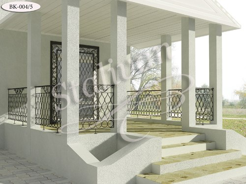 Кованое ограждение для балкона BK-004-5 - фото 1