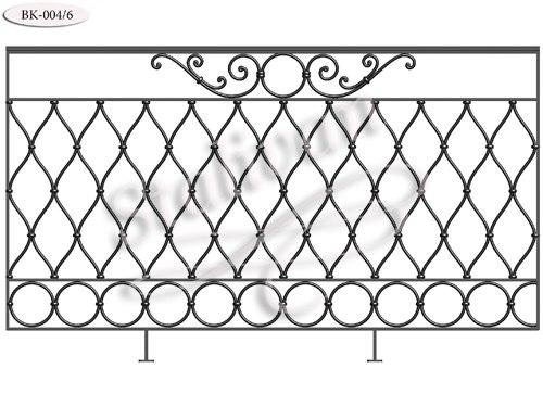 Кованое балконное ограждение BK-004-6 - фото 1