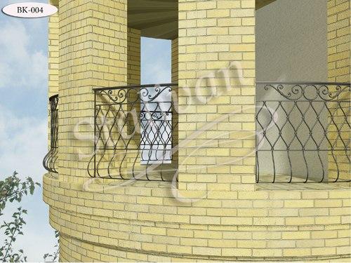 Ограждение с ковкой для балкона BK-004 - фото 1