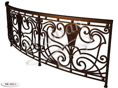 Балконное ограждение с ковкой BK-005-1 - фото 1