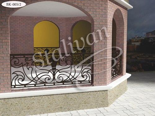 Балконное ограждение с элементами ковки BK-005-2 - фото 1