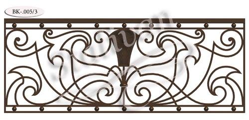 Кованое ограждение для балкона BK-005-3 - фото 1