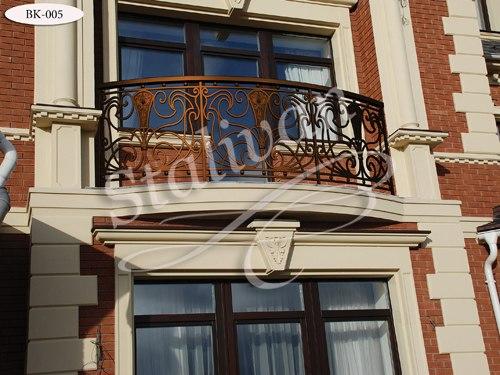 Ограждение с ковкой для балкона BK-005 - фото 1