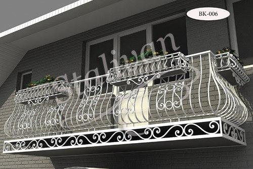 Кованое балконное ограждение BK-006 - фото 1