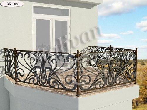 Ограждение с ковкой для балкона BK-008 - фото 1