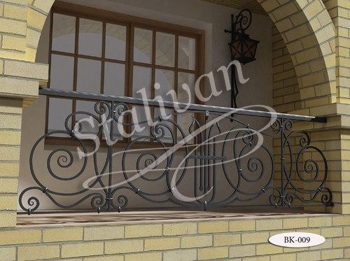 Балконное ограждение с элементами ковки BK-009 - фото 1