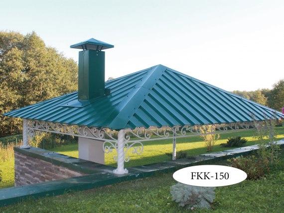 Двускатный кованый навес FKK-150-1 - фото 2