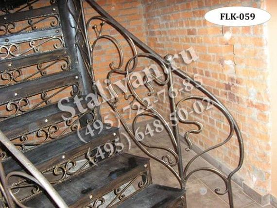 Кованый каркас лестницы FLK-059 - фото 1