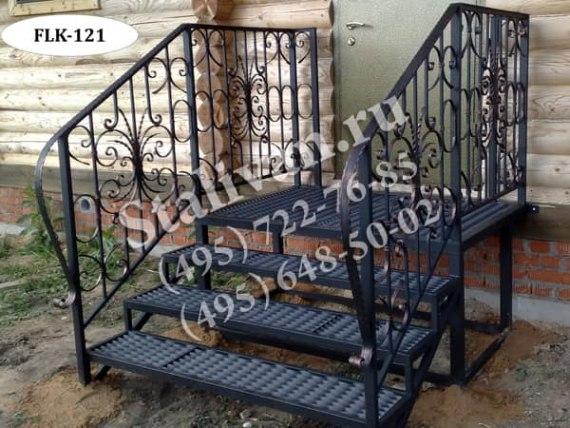 Кованый каркас лестницы FLK-121 - фото 1