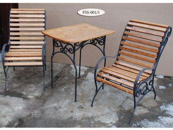 Комплект: кованые кресла и стол FSS-001 - фото 2