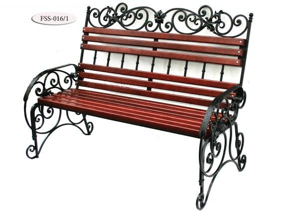 Кованая скамейка FSS-016 - фото 3