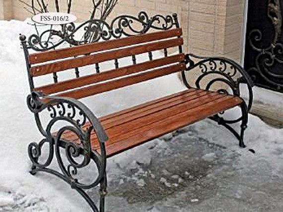 Кованая скамейка FSS-016 - фото 1