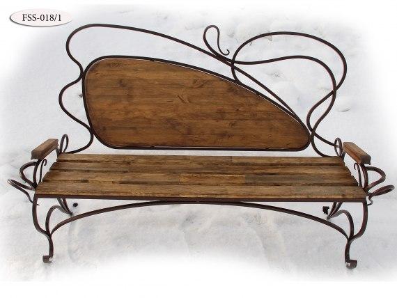 Кованая скамейка FSS-018 - фото 2