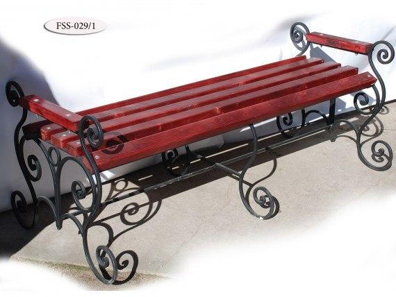 Кованая скамейка FSS-029 - фото 2