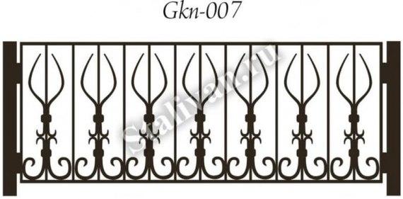 Ограждение для газона с ковкой Gkn-007 - фото 1
