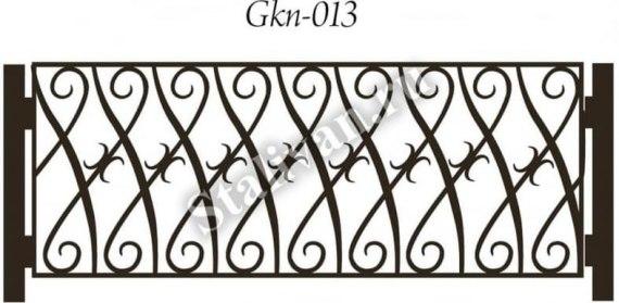Кованое газонное ограждение Gkn-013 - фото 1