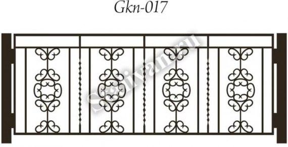 Ограждение для газона с ковкой Gkn-017 - фото 1