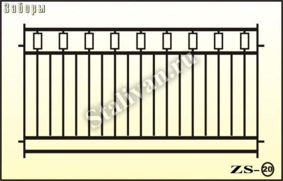 Сварной забор ZS-20 - фото 1