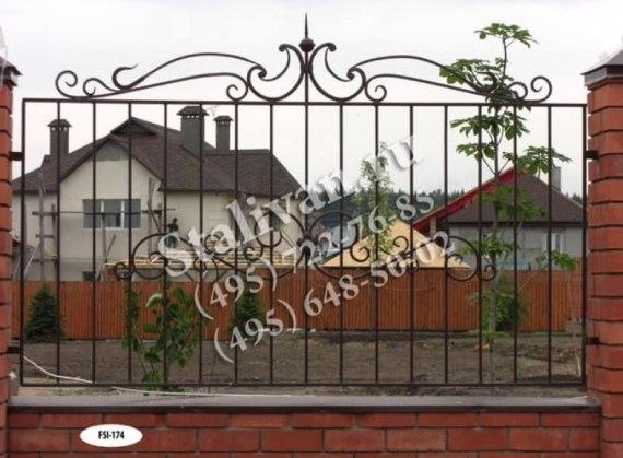 Кованая ограда FSI-174 - фото 1