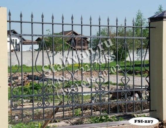 Ограда с художественной ковкой FSI-227 - фото 1