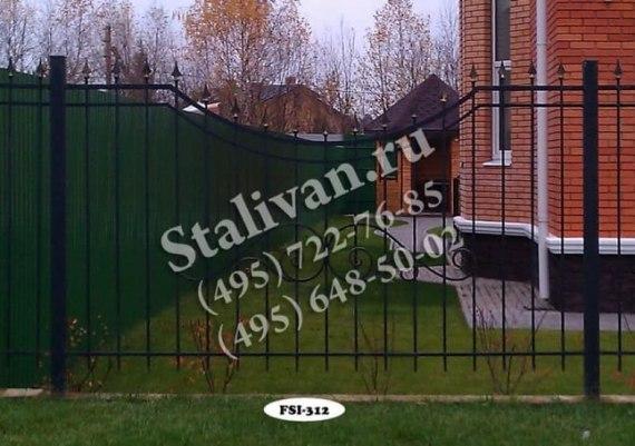 Ограда с элементами ковки FSI-312 - фото 1