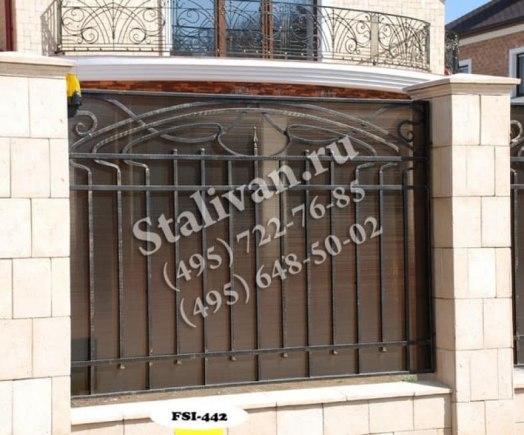 Ограда с ковкой FSI-442 - фото 1