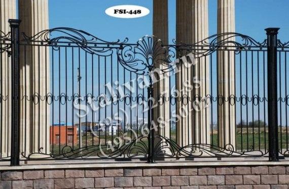 Кованая ограда FSI-448 - фото 1