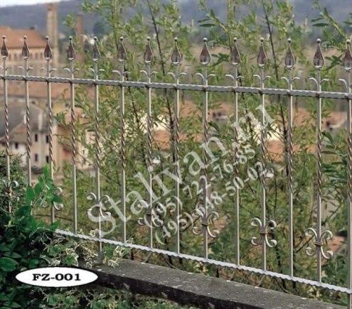 Ограда с художественной ковкой FZ-001 - фото 1