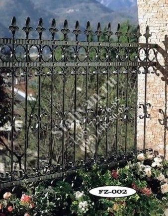 Кованая ограда FZ-002 - фото 1
