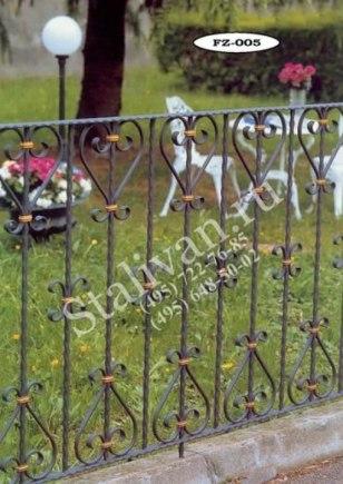 Ограда с ковкой FZ-005 - фото 1
