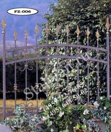 Ограда с художественной ковкой FZ-006 - фото 1