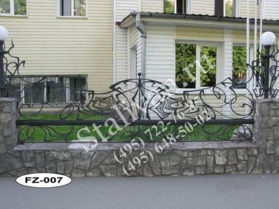 Ограда с ковкой FZ-007 - фото 1