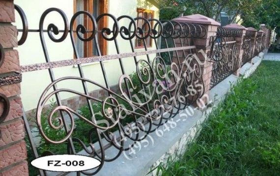 Кованая ограда FZ-008 - фото 1